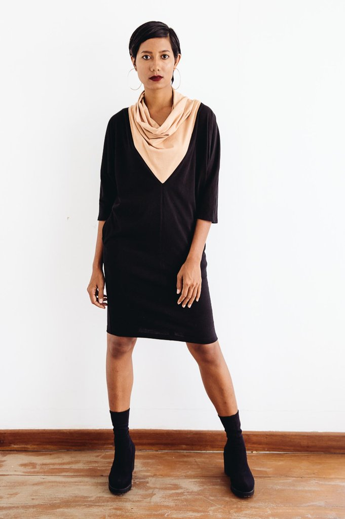 Tonlé | Vichka Dress in Black and Palm