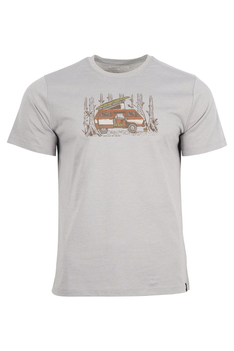 United by Blue | Men's Weekend Hideout Tee in Boulder Gray