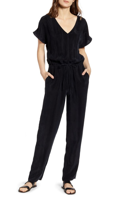 Stateside | Cupro SS Jumpsuit in Black