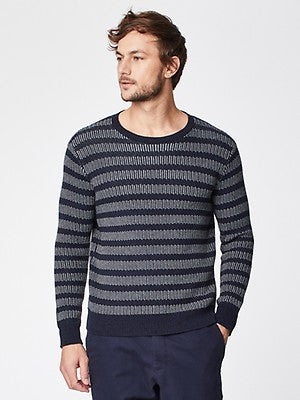 Thought | Broderick Sweater in Dark Navy