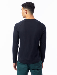 Alternative | Long Sleeve Raglan Henley in Black