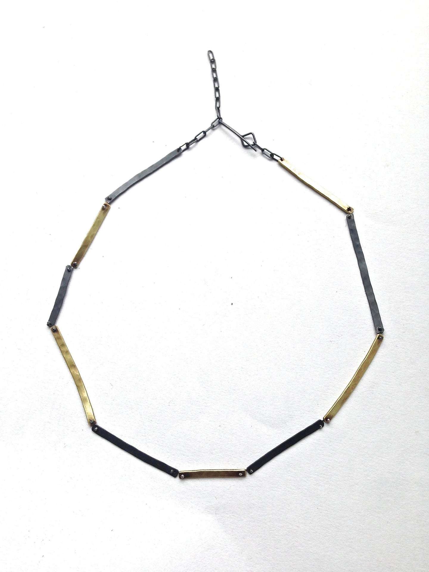 Di Luce Design | N-Link in Oxidized Silver & Brass at SHiFT Bainbridge