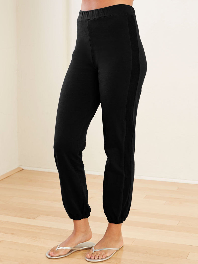 Blue Canoe | High Waist Track Pant in Black at SHiFT Bainbridge
