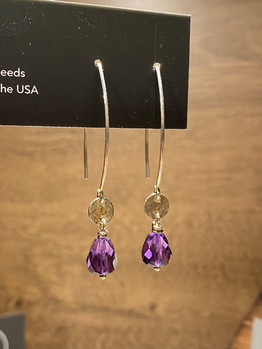 Rain City Forge | Jaqueline Earrings in Amethyst