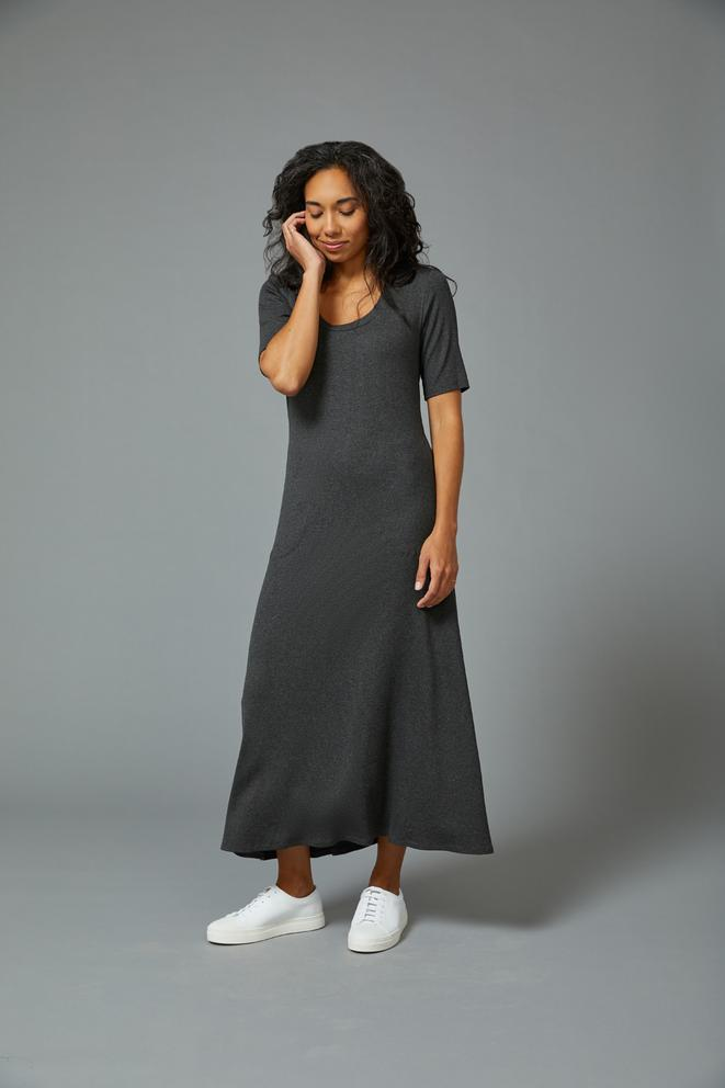 Sarah Liller | Gabby Dress in Dark Heather