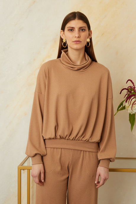 Sarah Liller | Giorgia Sweater in Camel