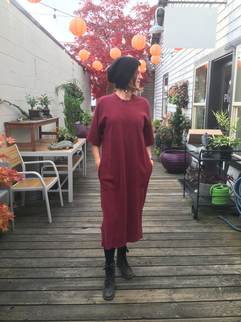 Backbeat Rags | Patch Dress in Berry