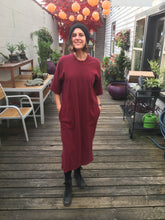 Load image into Gallery viewer, Backbeat Rags | Patch Dress in Berry