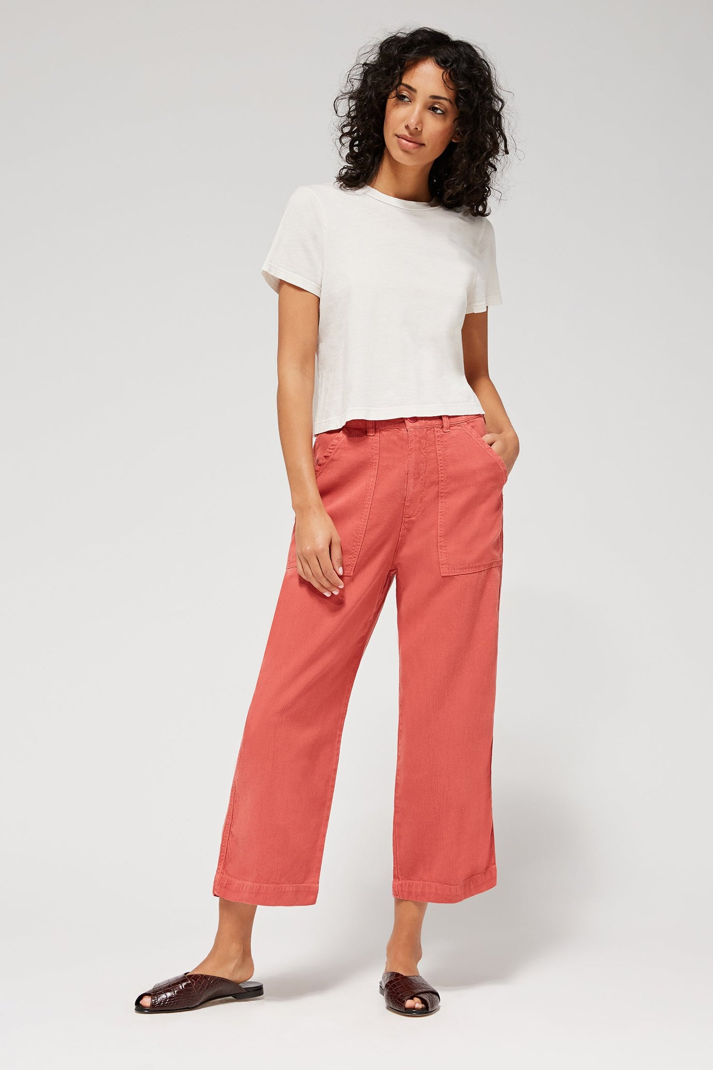Lacausa | Brushed Stella Trouser in Rhubarb