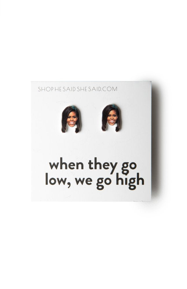 He Said She Said | Michelle Obama Earrings