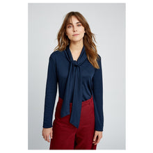 Load image into Gallery viewer, People Tree | Isabel Tie Top in Navy