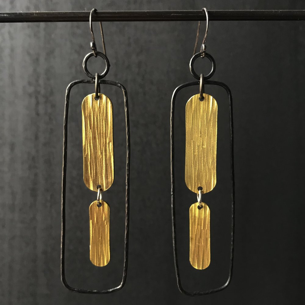 Steel Toe Studios | Bia Earrings in Steel/Brass