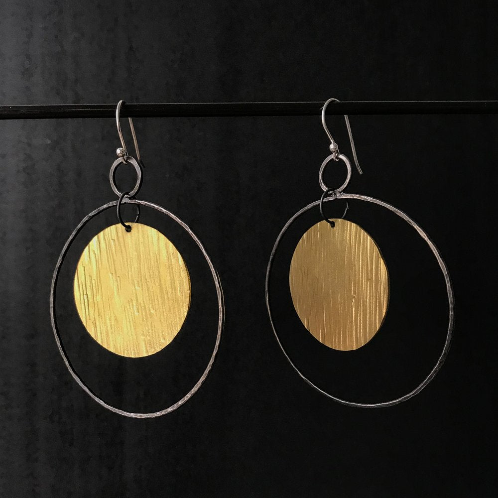 Steel Toe Studios | Selene Brass Earrings