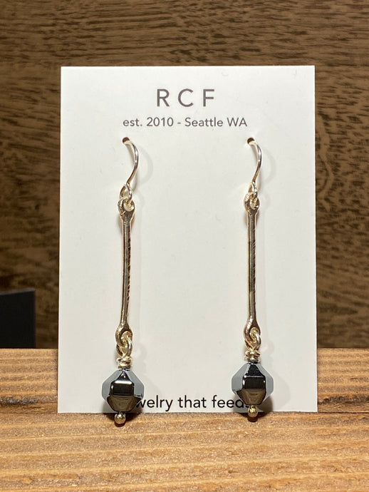 Rain City Forge | Jaqueline Earrings in Hematite