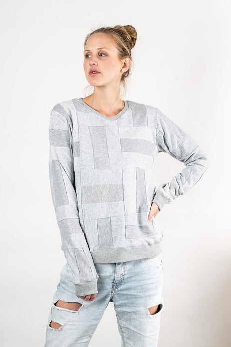 Tonle | Angkor Crewcut Sweatshirt in Gray