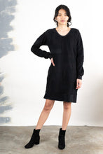 Load image into Gallery viewer, Tonlé | Angkor Sweatshirt Dress in Black