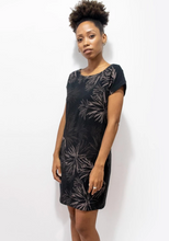 Load image into Gallery viewer, Tonle | T-shirt Dress in Black w/ Cactus