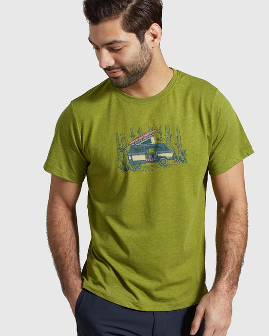 United by Blue | Men's Weekend Hideout Tee in Lilypad Green