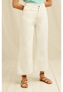 People Tree | Wide Leg Trouser in Cream