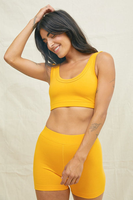 Back Beat Co. | Double Band Bra in Saffron