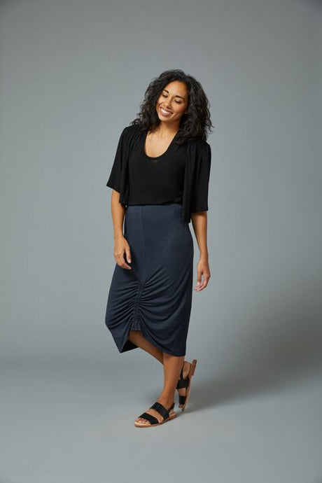 Sarah Liller | Camellia Skirt in Washed Black