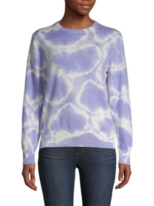Naadam | The Softest Cashmere Tie-Dye Crewneck in Lilac