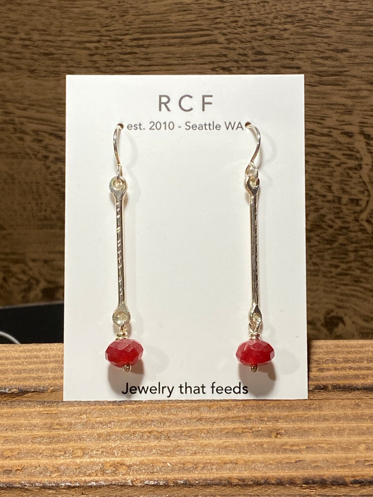 Rain City Forge | Jaqueline Earrings in Red Quartz