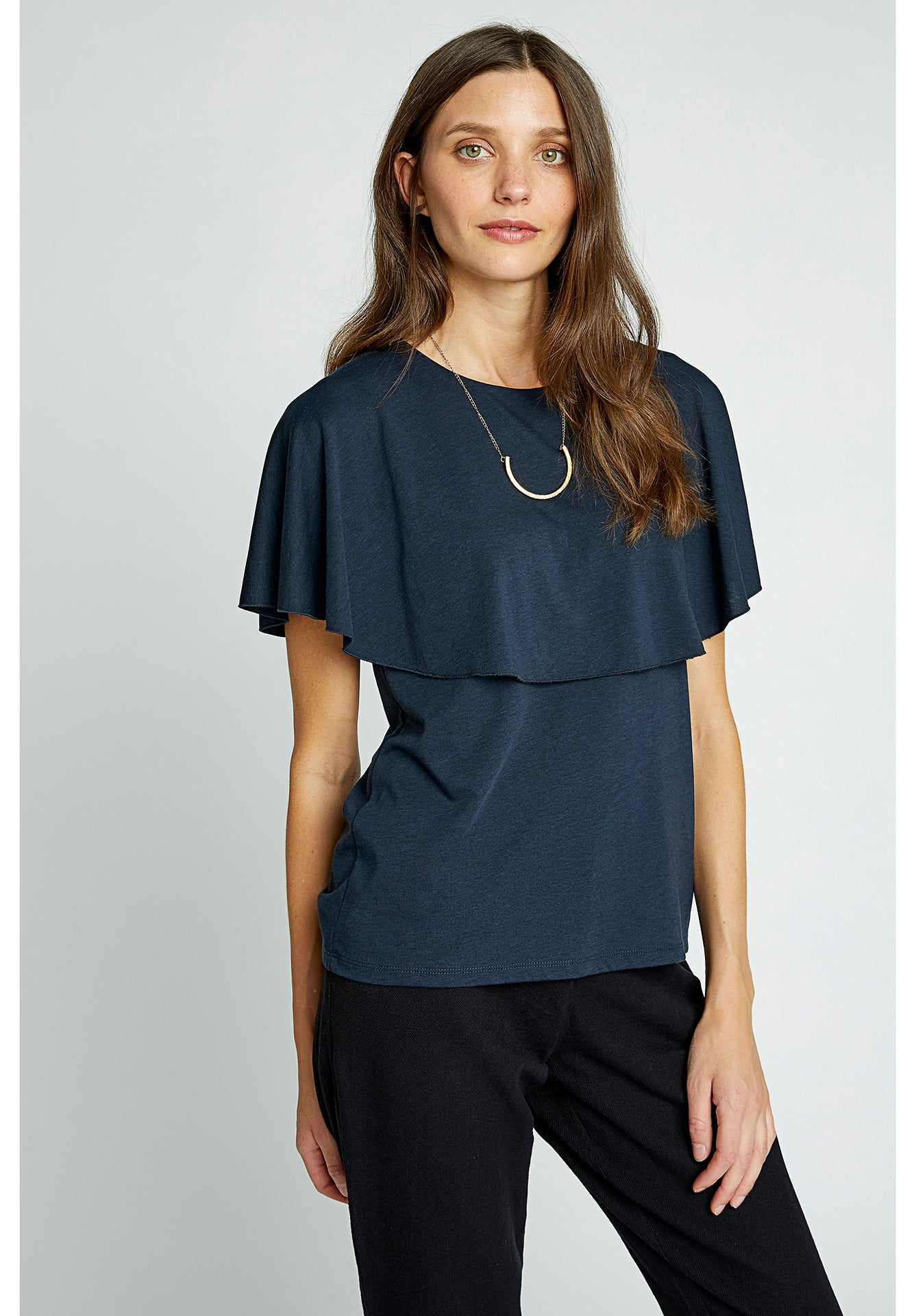 People Tree | Frankie Top in Navy