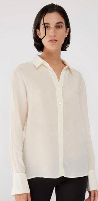 Stateside | Cupro Long-Sleeve Blouse in Cream