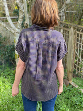 Load image into Gallery viewer, It Is Well | Short-Sleeved Boxy Button Down in Dobby