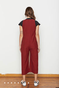 Backbeat Rags | Lounge Knit Jumpsuit in Berry