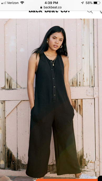 Backbeat Rags | Lounge Knit Jumpsuit in Black