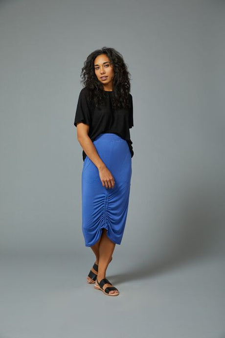 Sarah Liller | Camellia Skirt in Wedgewood Blue