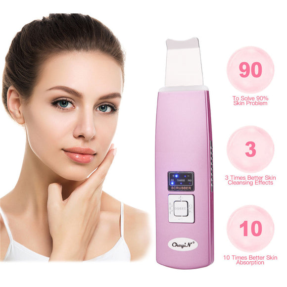 Ultrasonic Skin Scrubber Spatula - Facial Extractor - Face Lifting - Blackhead Removal