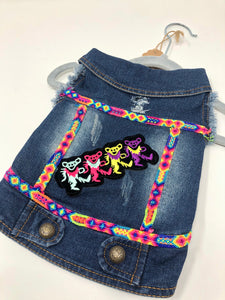 Denim Vest - Dancing bears