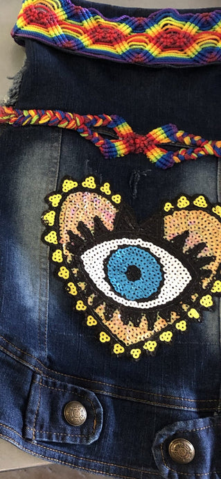 Denim Vest - Eye