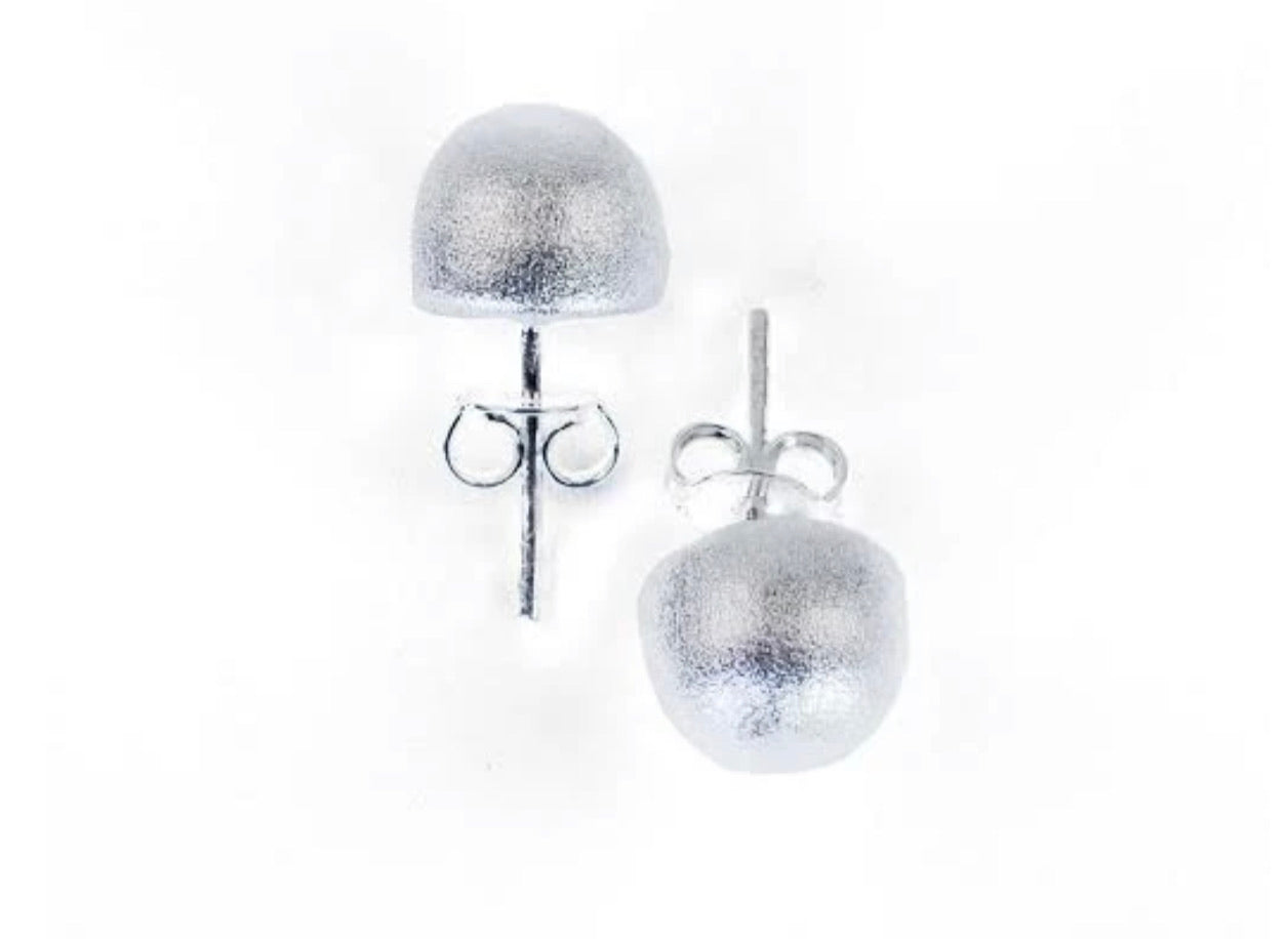 SF Little Burnished Silver Lilou ball studs