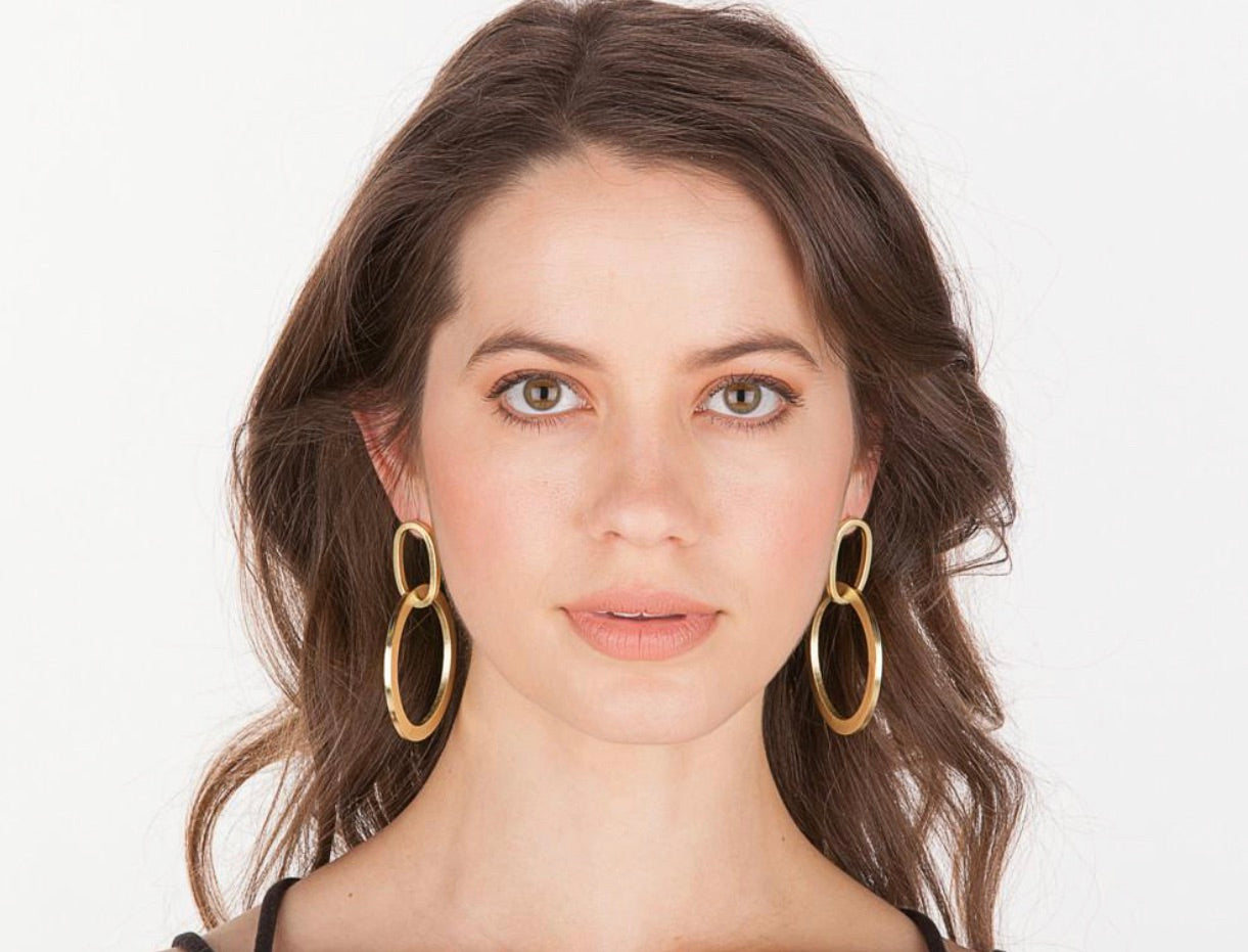 Sheila Fajl Sage hoop dangle earrings