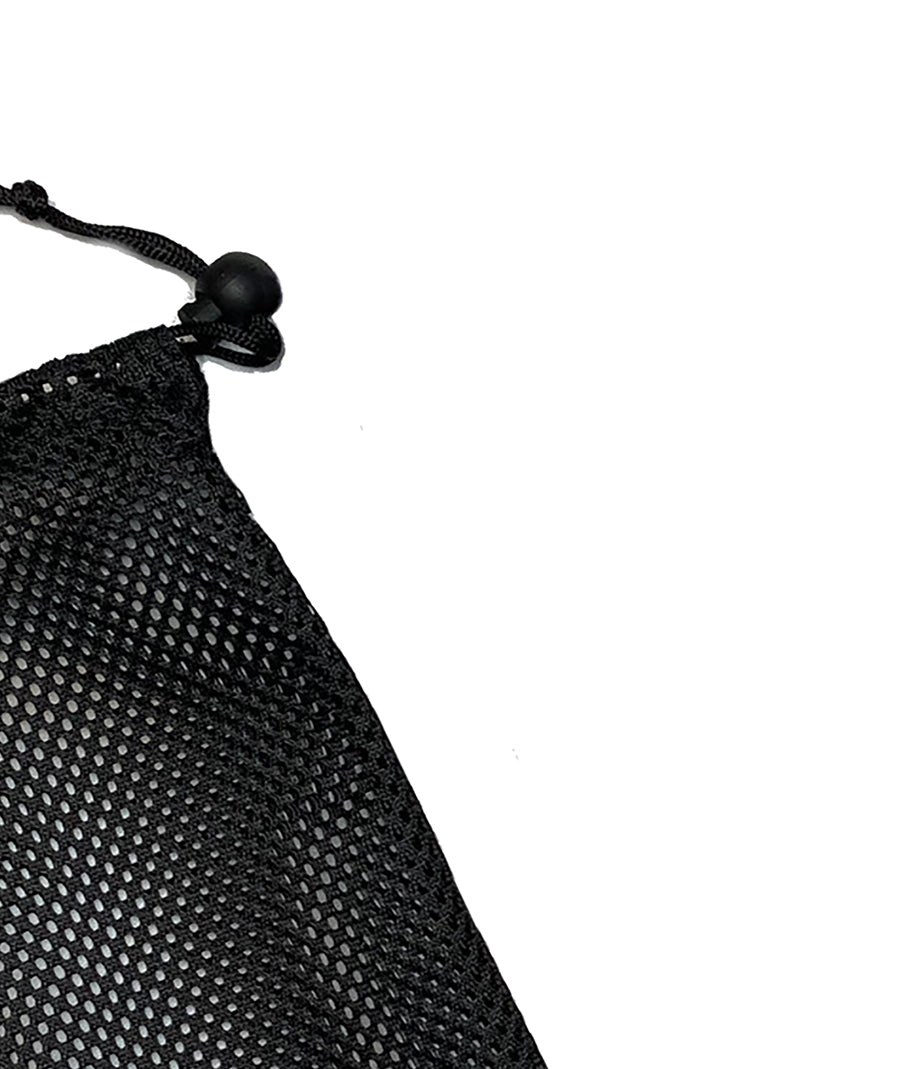 Mesh carry bag for resistance bands