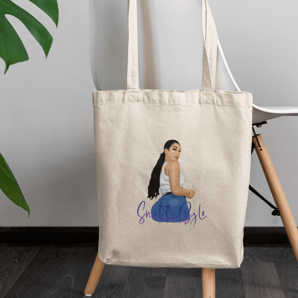 Snatched By Lo Logo Organic Tote Bag - MUMBOD
