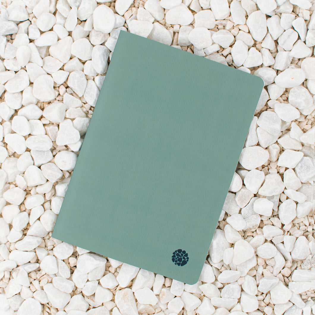 Stone Paper Notebook - Softcover Green