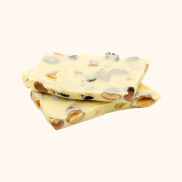 White Chocolate Bark with Tart Cherries and Orange