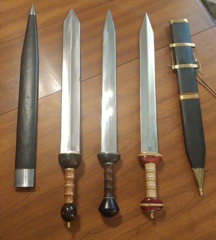 Some modern day recreations of the Roman Gladius
