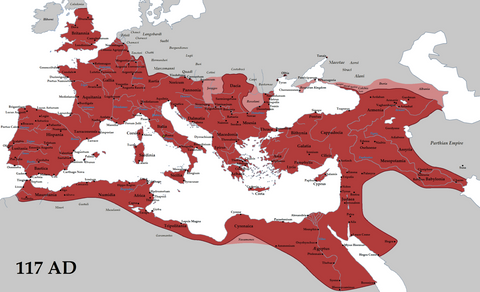 Roman Empire's Greatest Expanse