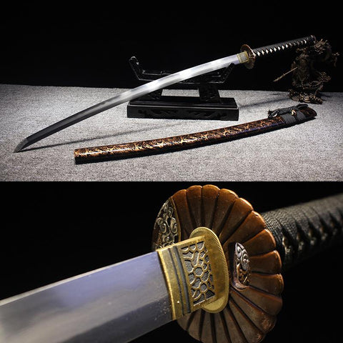 Utsikushisa Clay Tempered Folded Steel Katana Samurai Sword