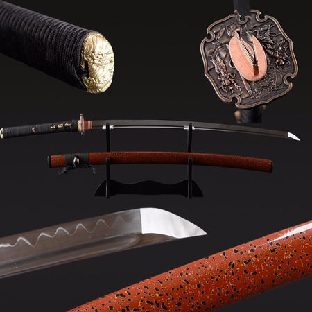 Aat Clay Tempered Folded Steel Katana Samurai Sword