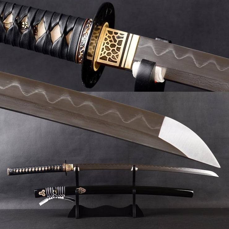 Amakusa Clay Tempered Folded Katana Samurai Sword