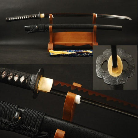 Anada Clay Tempered Carbon Steel Katana Samurai Sword