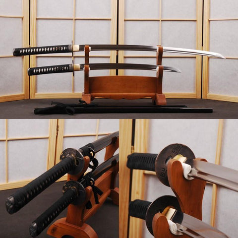 Artur Carbon Steel Samurai Sword Set