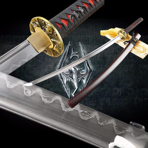 Chalermchai Clay Tempered Folded Steel Katana Samurai Sword